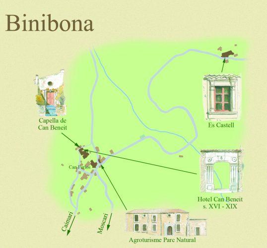 Mapa Binibona