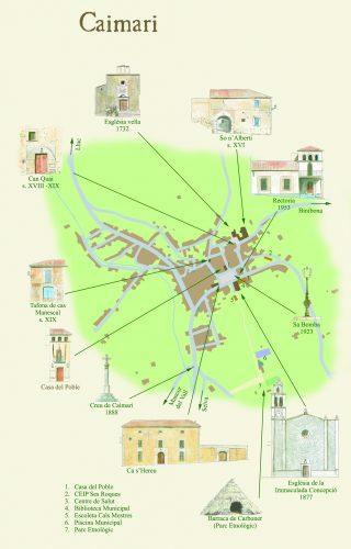 Mapa Caimari