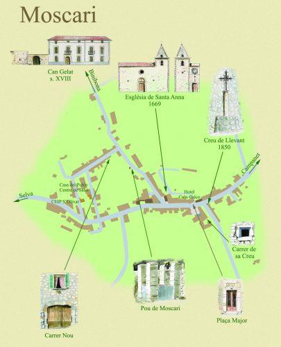 Mapa Moscari